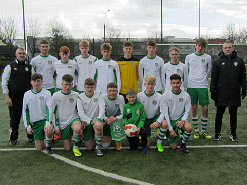 U-17s in League Cup final action