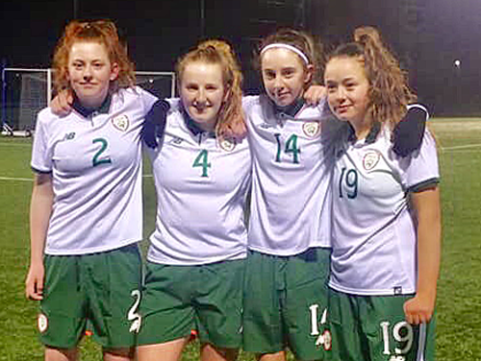The girls represent Ireland