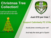 Call U-16s for your tree collection