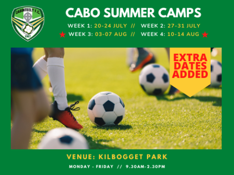 Our summer camps continue