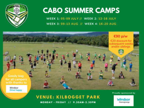 Cabo Summer Camps to kick-off