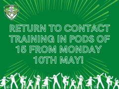 Contact training returns on Monday